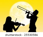 musicians playing violin and... | Shutterstock . vector #25530586