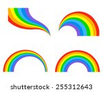 different shaped colorful... | Shutterstock .eps vector #255312643