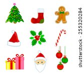 cute christmas web icon  ... | Shutterstock .eps vector #255320284