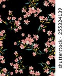 seamless flower fashion textile ... | Shutterstock .eps vector #255324139