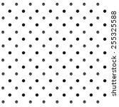 seamless polka dot pattern with ...   Shutterstock .eps vector #255325588