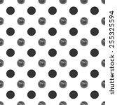 seamless polka dot pattern with ... | Shutterstock .eps vector #255325594