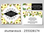 wedding invitation cards with... | Shutterstock .eps vector #255328174