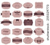 set of vintage label | Shutterstock .eps vector #255329773