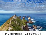 nugget point lighthouse  south... | Shutterstock . vector #255334774