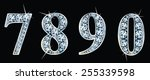 diamond numbers set 7 8 9 0.... | Shutterstock .eps vector #255339598
