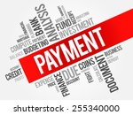 payment word cloud  business... | Shutterstock .eps vector #255340000