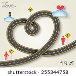 design vector road in form of... | Shutterstock .eps vector #255344758