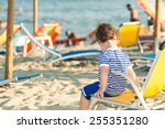 toddler dressed as a sailor... | Shutterstock . vector #255351280