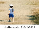 toddler dressed as a sailor... | Shutterstock . vector #255351454