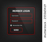 member login user interface...