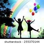 childhood.    Shutterstock .eps vector #255370144