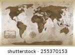 old map. | Shutterstock .eps vector #255370153