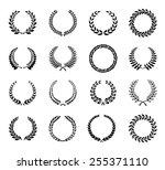 laurel wreaths vector | Shutterstock .eps vector #255371110