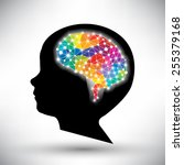 colorful concept of the human... | Shutterstock .eps vector #255379168