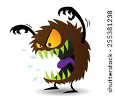 scary monster | Shutterstock .eps vector #255381238