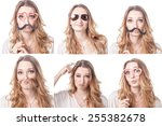 collage of woman different... | Shutterstock . vector #255382678