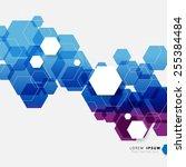 geometric hexagonal shapes... | Shutterstock .eps vector #255384484