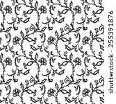 vector seamless floral... | Shutterstock .eps vector #255391876