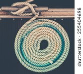 Mooring Rope With A Knotted En...