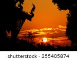 sunset   sunrise with clouds | Shutterstock . vector #255405874