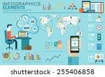 flat modern design vector... | Shutterstock .eps vector #255406858