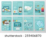 big set of infographics... | Shutterstock .eps vector #255406870