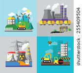 factory landscape  ecology... | Shutterstock .eps vector #255409504