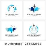 creative church logo design set....