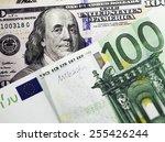 Dollar And Euro Notes. Symbol...