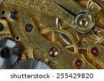 mechanism of old clock | Shutterstock . vector #255429820
