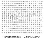 set of 320 hand drawn icons.... | Shutterstock .eps vector #255430390