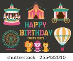 happy birthday card | Shutterstock .eps vector #255432010