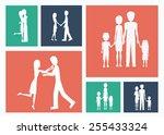familiy  desing over colors... | Shutterstock .eps vector #255433324