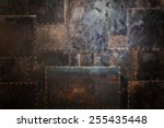 scratched and spotted rusty... | Shutterstock . vector #255435448