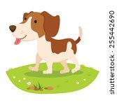 Farm Dog. Cheerful Dog .