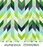 seamless doodle dots zig zag...   Shutterstock .eps vector #255442864