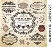 vector vintage collection ... | Shutterstock .eps vector #255453109