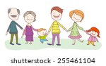 big happy family consisting of... | Shutterstock .eps vector #255461104