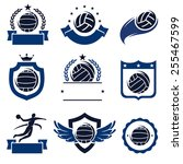 water polo labels and icons set....   Shutterstock .eps vector #255467599
