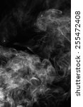 white smoke on a black... | Shutterstock . vector #255472408