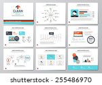 business infographics elements... | Shutterstock .eps vector #255486970