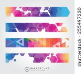 set of trendy bright colorful... | Shutterstock .eps vector #255497230