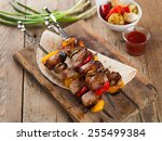 Grilled Meat And Vegetable...