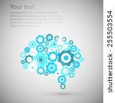 brain gear | Shutterstock .eps vector #255503554