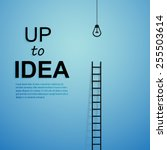 ladder to idea. vector... | Shutterstock .eps vector #255503614