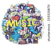 Abstract Musical Art With Funn...