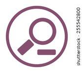 magnifying glass.vector... | Shutterstock .eps vector #255542800