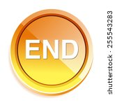 end button | Shutterstock .eps vector #255543283