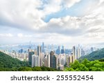 hong kong city view from the... | Shutterstock . vector #255552454